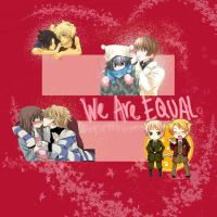 We are Equal (same-sex marriage campaign) by AngelofHell99