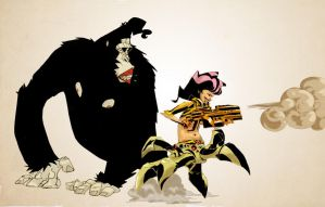 The Gorilla and The T.O.C.G by celor