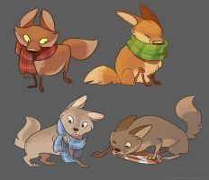 of scarves and foxes by scrii