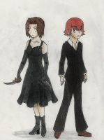 Baccano: Chane and Ennis by FinLin