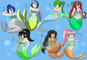 Mermaid Adopt Set 03 ALL SOLD by MegaGundamMan