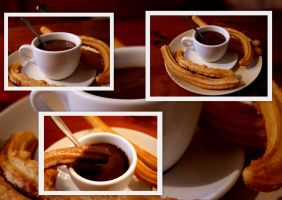 churros con chocolate by arualcat