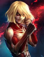 Fight Like a Girl - Female Titan by StefTastan