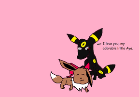 Mad Father Eevee's - Aya and Alfred by UmbreonDelilah