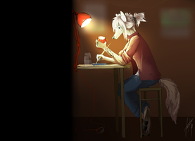 Just drawing :3 by SurgeonWolf