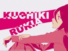 Kuchiki Rukia Wallpaper by mikaorurk