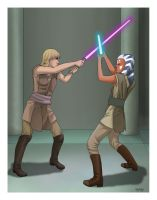 Padawans Training by AshleyKayley