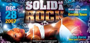 SOLID AS A ROCK Flyer by innografiks