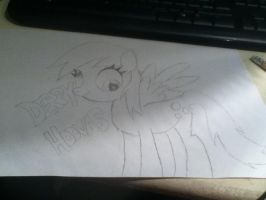 Derpy hooves drawing by sonic-chic1