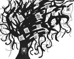 Slenderman Tree by PlethoraFantastique