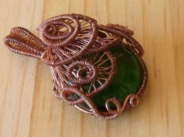 Wire wrapped pendant by Craftcove