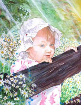 Little girl Portret comission 40x50 by Hollow-Moon-Art