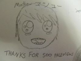 THANKS FOR 500 PAGEVIEWS by TisMatty