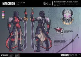-- Character Sheet -- Malchion by sarrus
