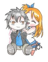 Lucy and Grey Chibis by Daughter-of-Kabegami