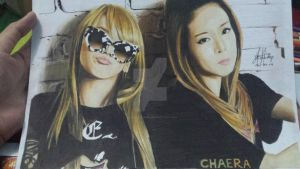 2NE1 CL and Dara by iloveMaidSama