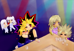 [YGO - request] The duo trios at the bar by SnowLicht