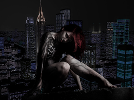 Mary Jane meets The Symbiote photo manip by shelle-chii