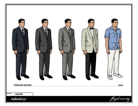 Archer Suit Choices Season 1 by MissleMan
