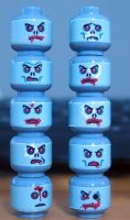 Custom LEGO Zombie Heads The Undead dead by Digger318