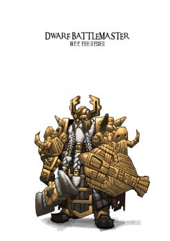 dwarf battlemaster by hupao