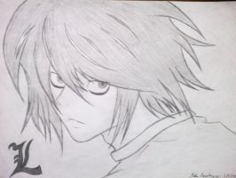 L from Death Note by RSTFrame1595