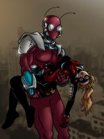 Stature Knocked out by the Ireedeemable Ant-Man by cuttlesquid
