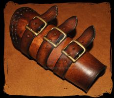 leather bracer by Lagueuse