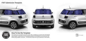 Fiat Blue Abstract by FractalBee