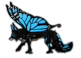 Butterfly fox adoptable auction by TaraviAdopts