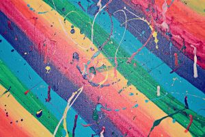 Rainbow Paint Splatter Texture 1 by HollyDGF