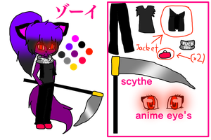 Zoey Ref 2017 please don't kill me if i made this by Azumii-irene
