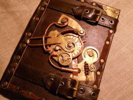 Steampunk notebook by ChanceZero