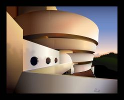 Guggenheim Illustration2 by gabedesignz
