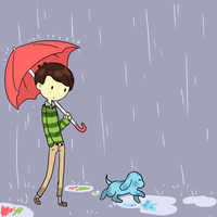 Puddle Hopper by Tenshilove