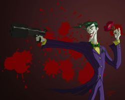 Joker is out for Blood by Waltdog
