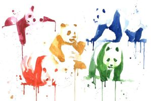rainbow pandas by Wik86