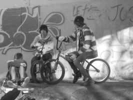 bmx friends by bebejillie