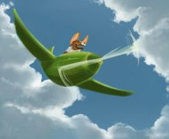 Fly Away, Corgi by The-Starhorse