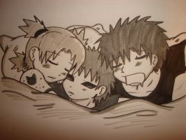 Sand Siblings in bed by animecrazedfan