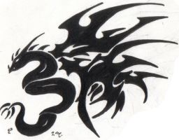 Dragon Tattoo by Gothie666