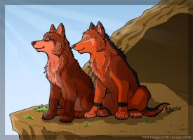 Red Sisters_Puppy Style by Tenaga