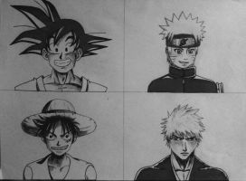 Anime Mix Drawing 01 by eduaarti