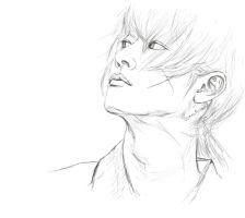 Kenshin- Looking Up- Sketch by amie689