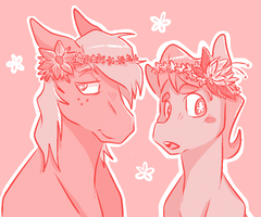 flower boyfriend by CleppyClep