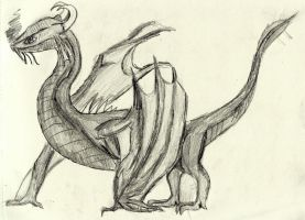 Fafnir, the dragon of the cavern (Concept art 2) by Nuevolucion