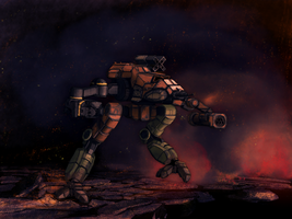 Battletech - Bushwacker - running - redone by Shunuke