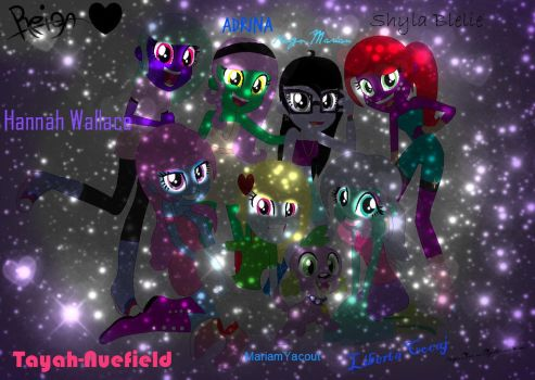 Me and my real life bff's real look (Edited) by MlpSilverSorrow