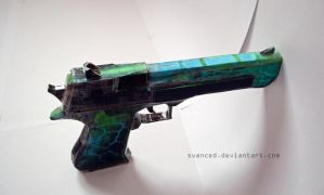 Crossfire Desert Eagle Green Vein Papercraft 2 by svanced