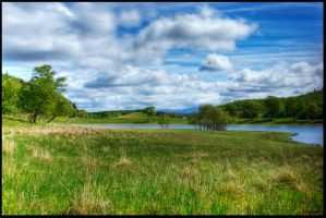 Scottish Grasslands by jayvoh